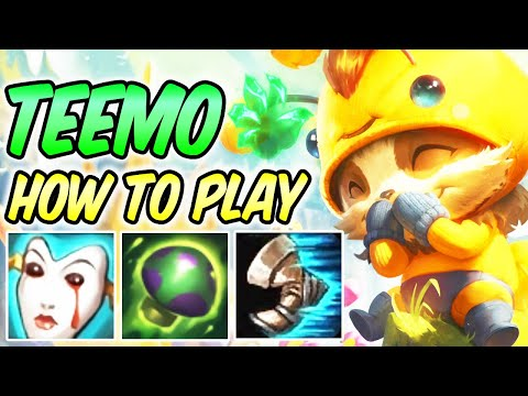 HOW TO PLAY TEEMO TOP GUIDE WITH GRASP OF THE UNDYING | Build & Runes | Diamond Commentary | S10