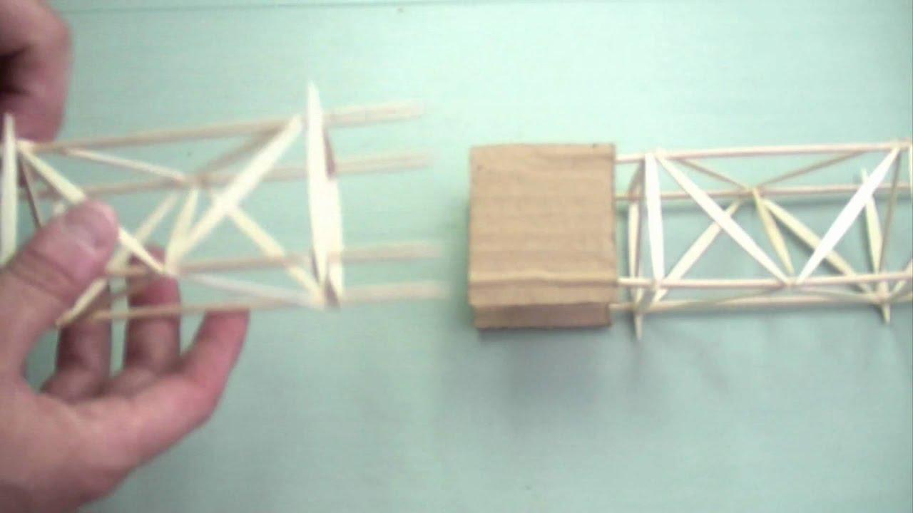Cómo unir módulos de estructuras hechas con pinchos y palillos - YouTube