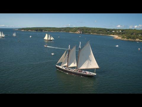 Drone Video - 2016 Gloucester Schooner Festival Parade of Sail