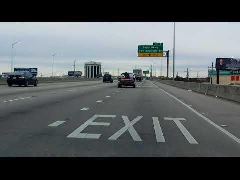 Westbank Expressway (Interstate 910/US 90 BUSINESS Exit 8) eastbound/inbound