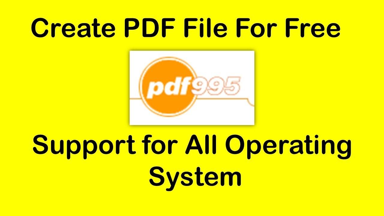 FREE PDF995 PRINTER DRIVER (2019)