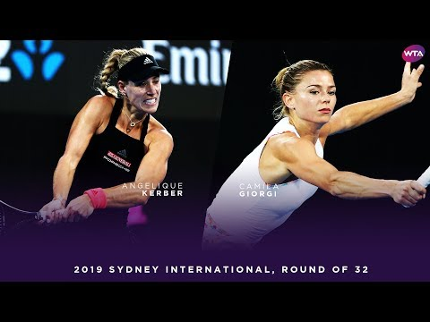 Angelique Kerber vs. Camila Giorgi | 2019 Sydney International Round of 32 | WTA Highlights