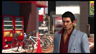 Yakuza 6 - Chapter 1: We're Commited To Results: Sub-Story: Talk To Homeless Man, Makuta Intro