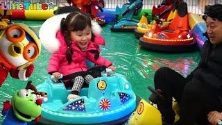 배틀 범퍼카! 승자는? 웅진플레이도시 뽀로로 전동차 로봇 챌린지 장난감 놀이 ride car for kids | LimeTube & Toy 라임튜브