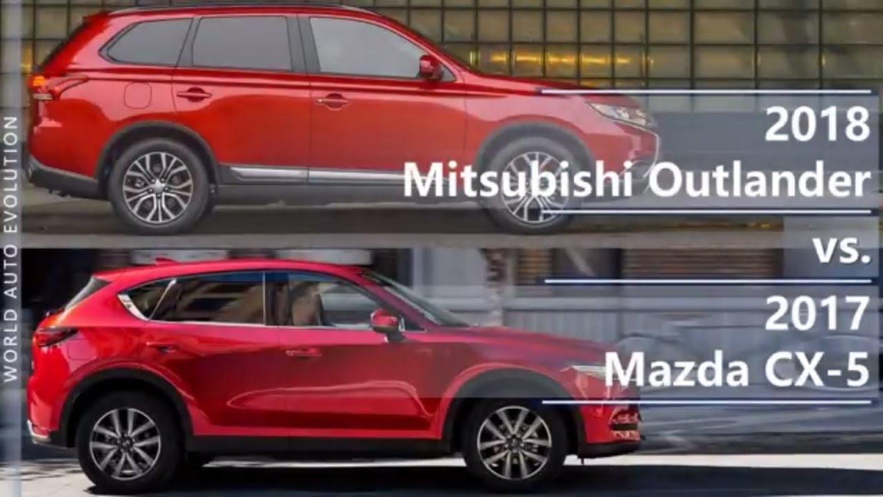 2018 Mitsubishi Outlander Vs 2017 Mazda Cx 5 Technical Comparison