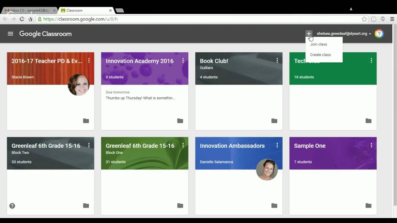 google classroom sign in page