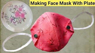 Face Mask Making With Plate Reusable Face Mask Washable Face Mask Model 3 Fabric Face Mask