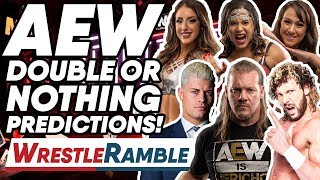 AEW All Elite Wrestling Double Or Nothing Predictions! | WrestleTalk's WrestleRamble