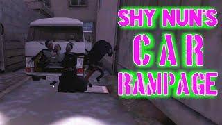Shy Nun In A Car Rampage | Evil Nun