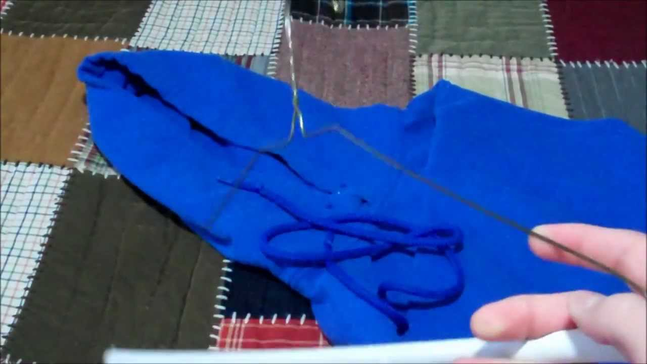 a47fa57e0d11 How to restring your Hoodie or Sweatshirt in less than a Minute - YouTube
