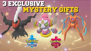 3 EXCLUSIVE MYSTERY GIFT CODES YOU CAN GET! POKEMON SWORD AND SHIELD MYSTERY GIFTS