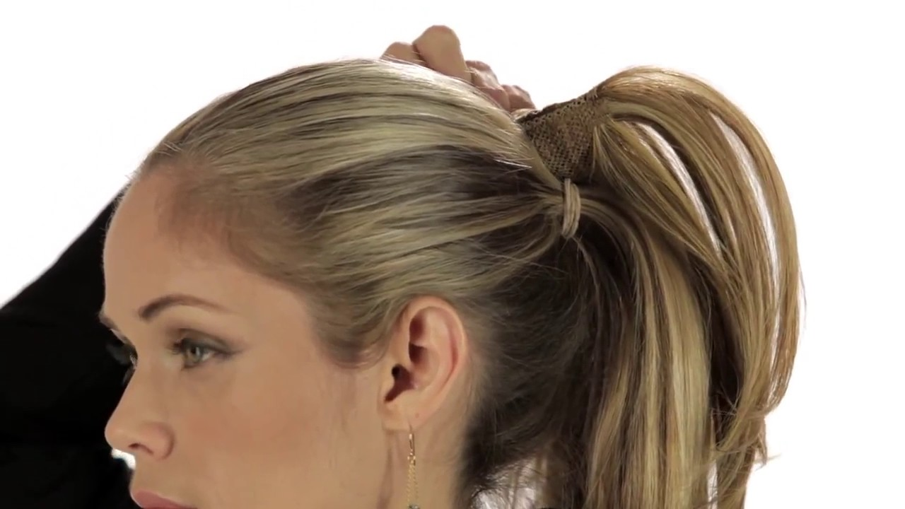 How To Put On A Hair2wear Ponytail Christie Brinkley Collection 1