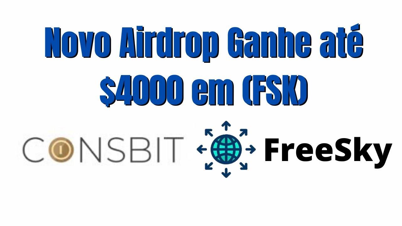 Novo Airdrop da Coinsbit Ganhe até $4000 em Token FreeSky