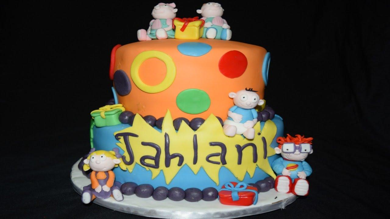 Rugrats Cake Pastel De Rugrats Youtube