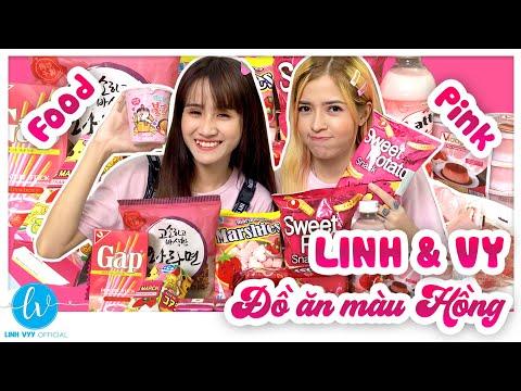 Thử Thách Ăn Đồ Ăn Màu Hồng (The Challenge Of Eating Pink Food) I Linh Vyy Official