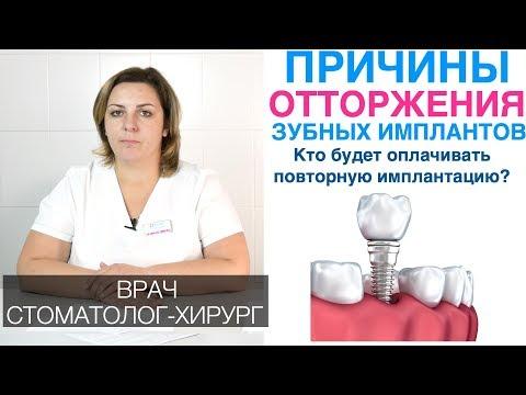 Причины отторжения зубных имплантов. Приживляемость зубных имплантов. Повторная имплантация зубов.