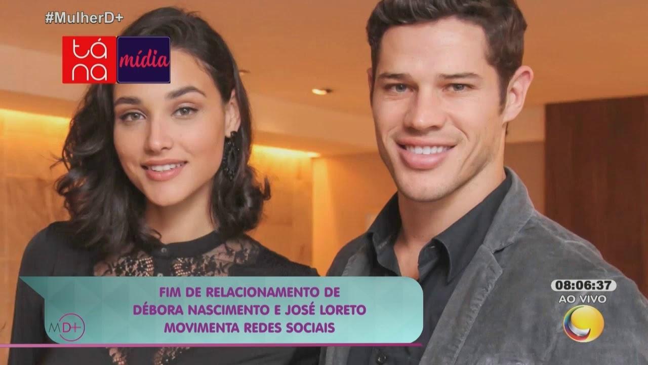 Fim de relacionamento de Débora Nascimento e José Loreto movimenta redes sociais