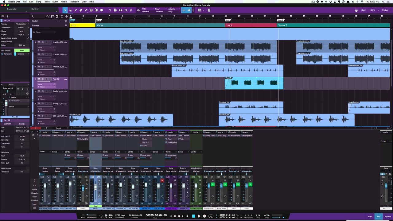 fade in and out from cursor in studio one V3