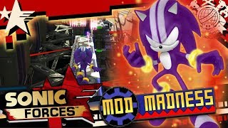 Sonic Forces (PC 4K 60FPS) DARKSPINE SONIC & BETA MORTAR CANYON - Mod Madness