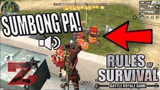 "NAGTAWAG NG RESBAK! ""MAYABANG"" (Rules of survival: Battle royale)"