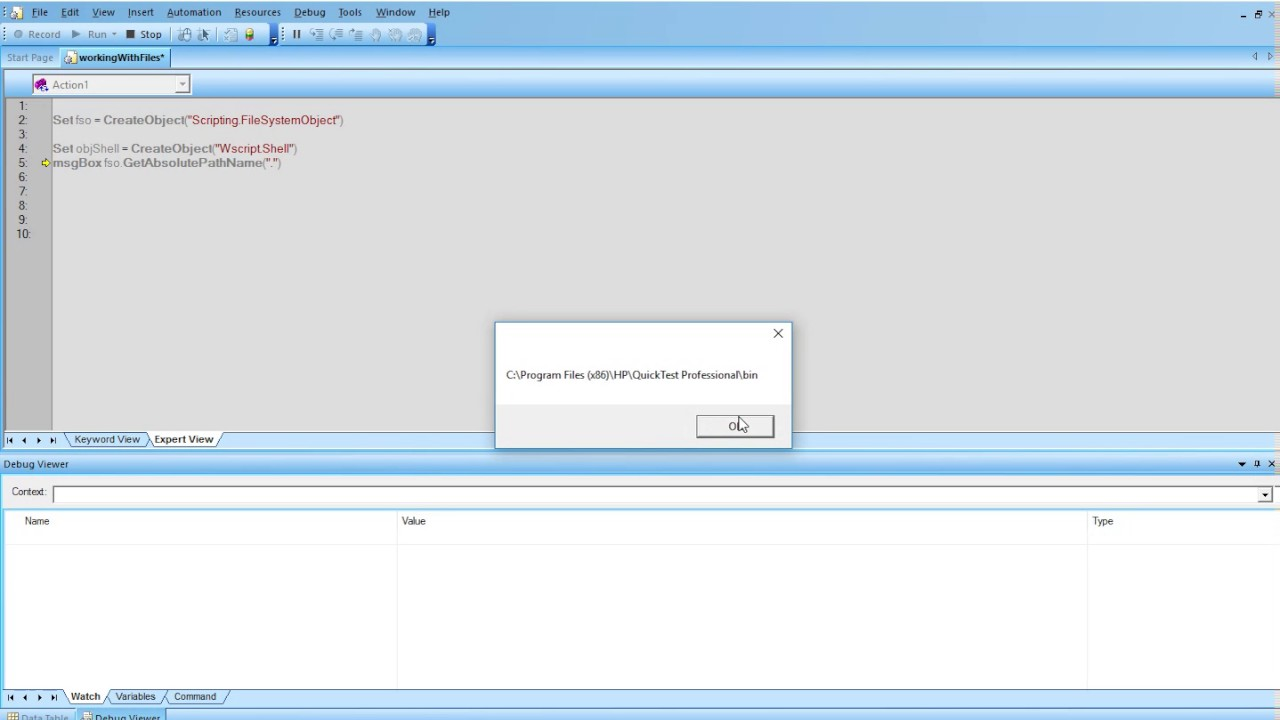 01 VBScript Objects view with PowerShell and Calling a