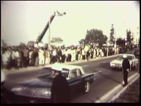 Protest Against Lyndon Johnson at Century Plaza Hotel, This film shows a demonstration held duri...