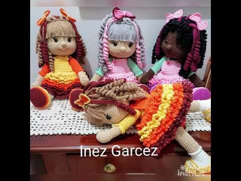 Aprenda fazer uma linda boneca de crochê articulada usando a ... | 360x480