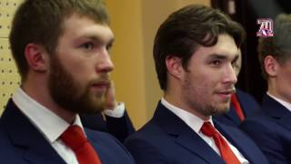 Открытая тренировка и пресс-конференция национальной сборной России перед ЧМ-2017