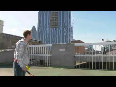Andy Murray Tennis Street Magic in London