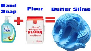 Hand Soap + Flour = Butter Slime  How To Make Butter Slime No Daiso Clay  Slime DIY