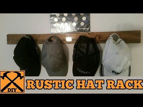 How to build: A RUSTIC HAT RACK  (Tutorial) 1 Day Build