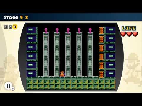 NES Remix Walkthrough - Wrecking Crew - Stages 1-10 (3 Star Rainbow Rank) |