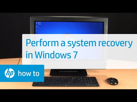 Performing An HP System Recovery In Windows 7 | HP Computers | HP
