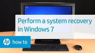 Performing an HP System Recovery in Windows 7