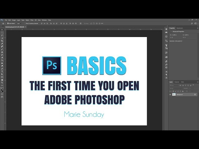 How to use Adobe Photoshop CC the very first time