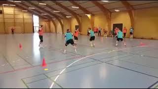 Handball counter attack 3v3 exercise