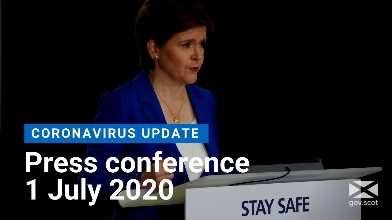 Coronavirus update from the First Minister: 1 July 2020