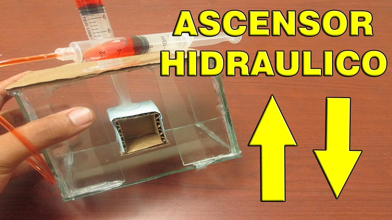 Experimentos como hacer un ascensor hidr ulico youtube for Mini ascensor casero