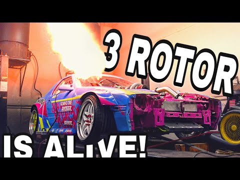 3 ROTOR RX7 DYNO DAY + FIRST DRIVE!!!