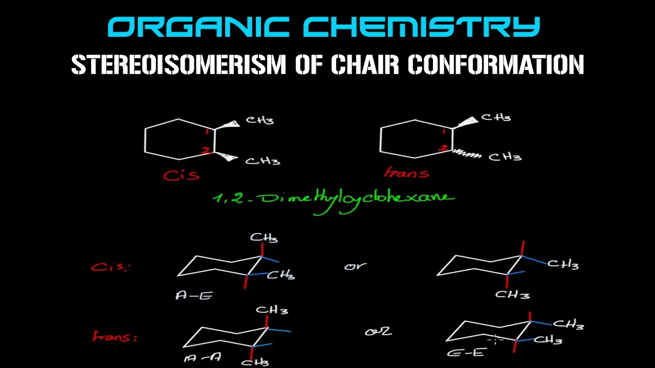 Chair 1 2 Home Depot Hammock Organic Chemistry Stereoisomerism Of Conformation Youtube