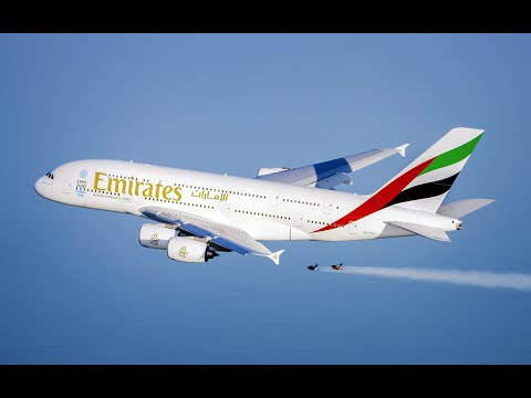 Thumbnail: Emirates A380 and Jetman Dubai Formation Flight | Emirates Airline