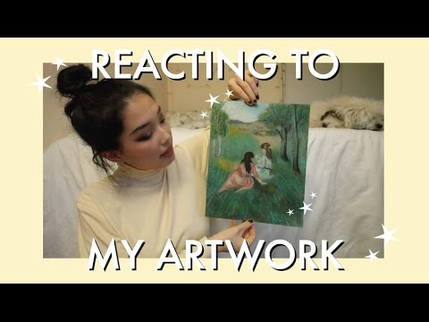 reacting to my high school art portfolio !!