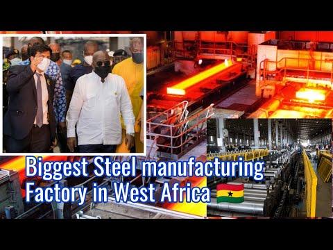 Breaking!!! Ghana President Commissions Biggest Steel Factory in West Africa