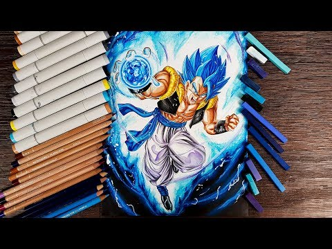 Drawing GOGETA Ssj Blue