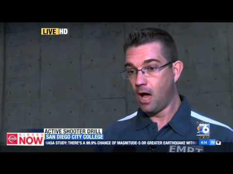 XETV SD  San Diego Community College District Trains Students for Active Shooter Scenario
