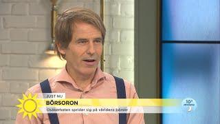 """Ekonomen efter nedgången på börsen: """"Jag har pengarna i plånboken istället"""" - Nyhetsmorgon (TV4)"""