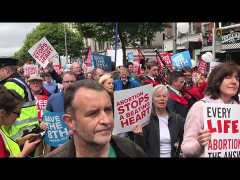 Dublin Rally for Life 2017 -  only around 5300 marched and here's the evidence