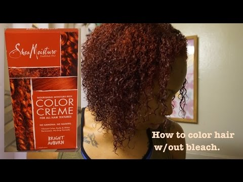 How To Color Hair Red Without Bleach Shea Moisture Bright