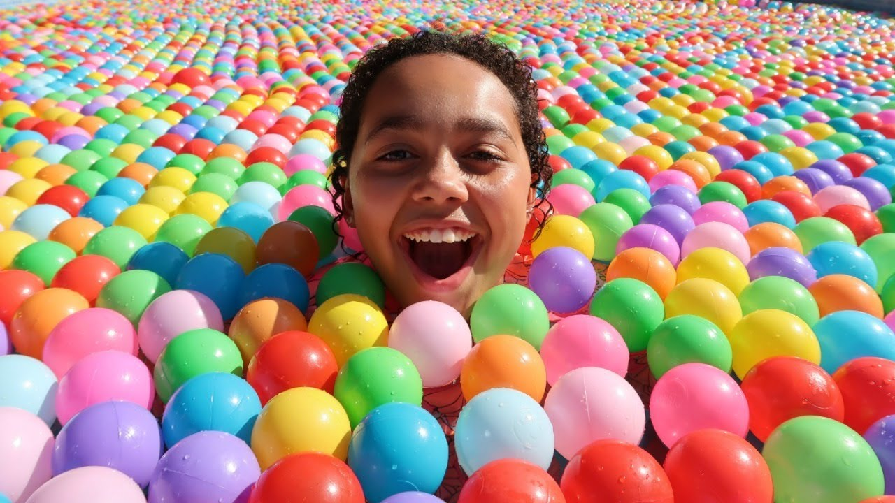 Ball Pit In Our Swimming Pool Youtube
