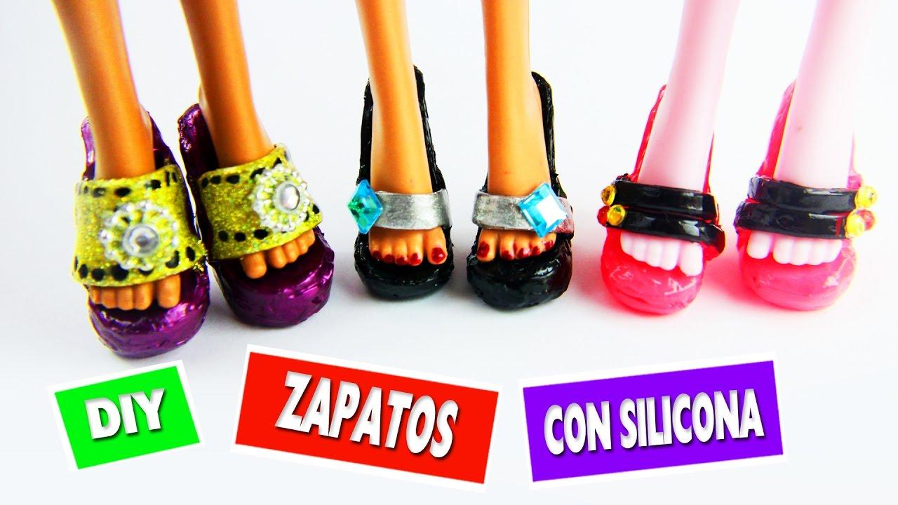 Cómo Hacer Zapatos Para Muñecas Monster High Con Silicona Caliente Manualidades Para Muñecas
